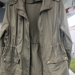 Army Green Utility Field Jacket Size Large